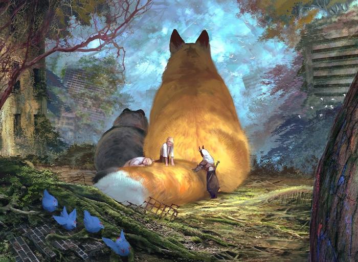 giant fluffy companions monokubo art