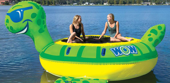 giant inflatable trampoline pool float