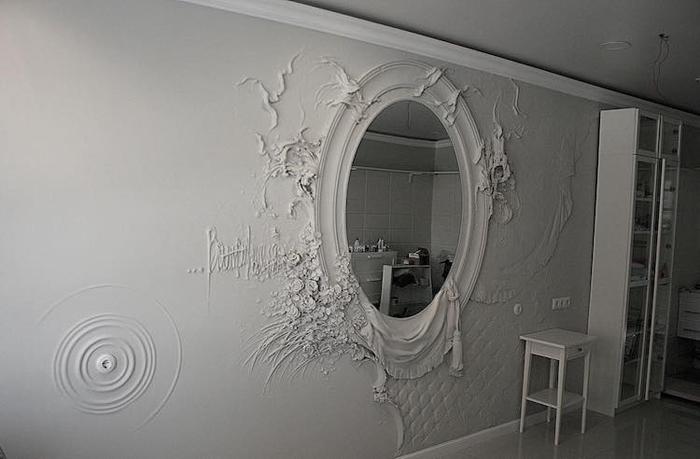 goga tandashvili bas-relief sculptures mirror frame