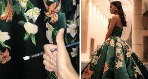 hand painted-graduation dress