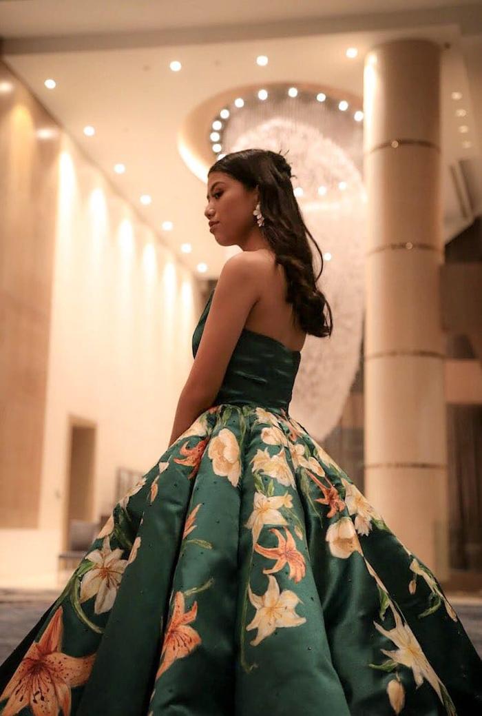 hand-painted graduation dress by ciara gan