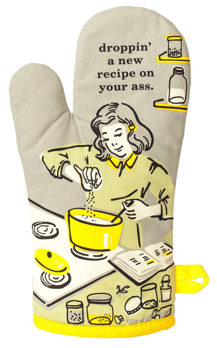 hilarious gifts fire oven mitt