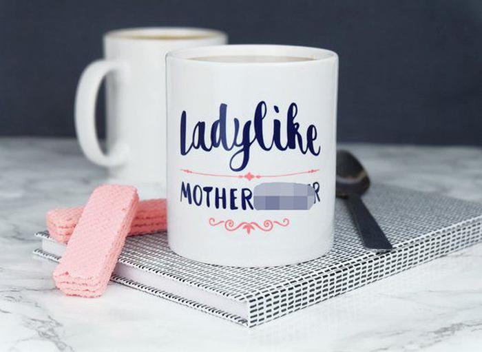 hilarious gifts ladylike mug