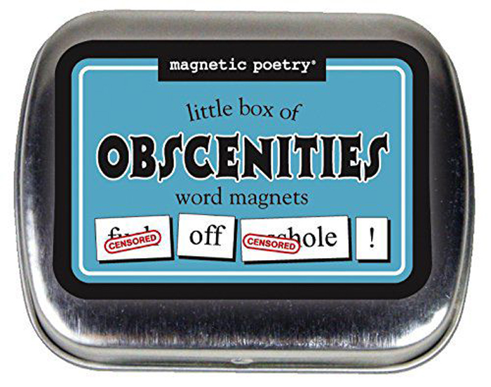 hilarious gifts little box of obscenities