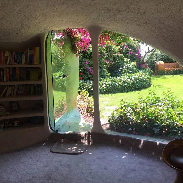 hobbit house glass door