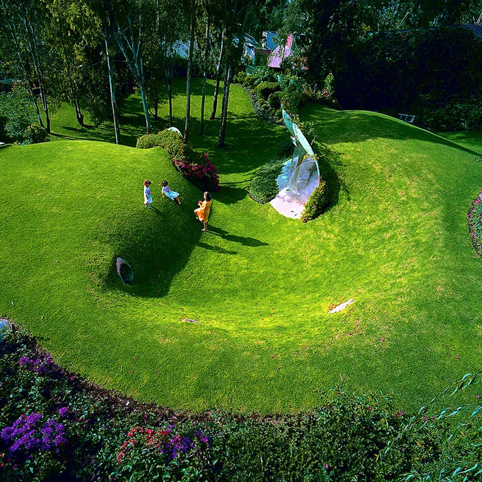 hobbit house green roof