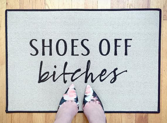 straightforward welcome mat