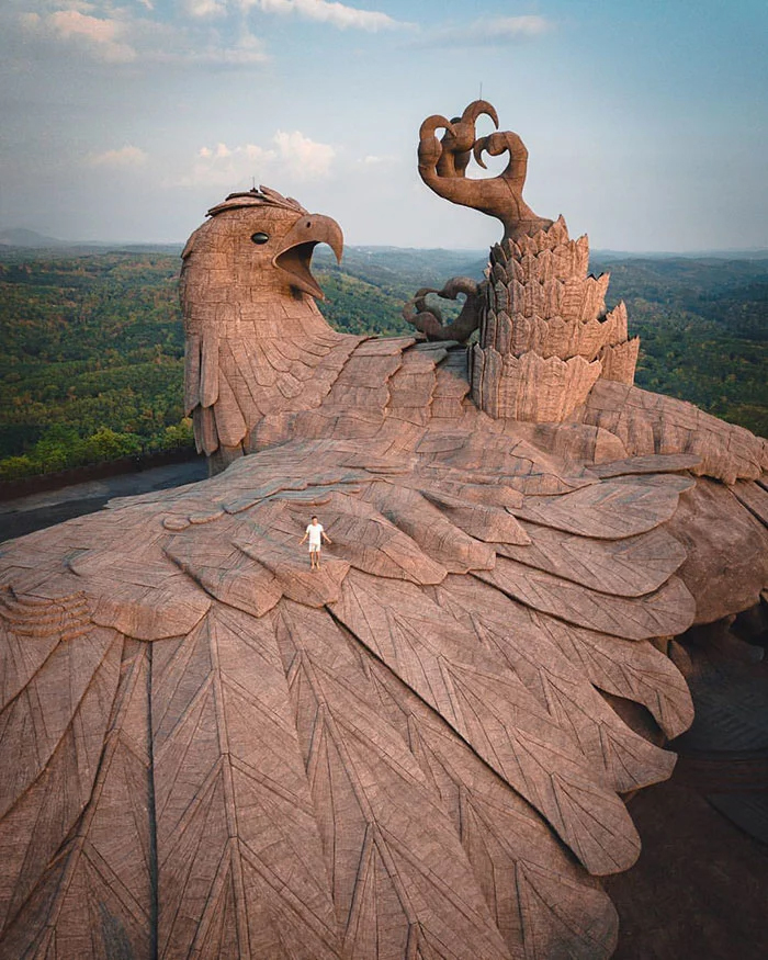 jatayu earth center eagle statue