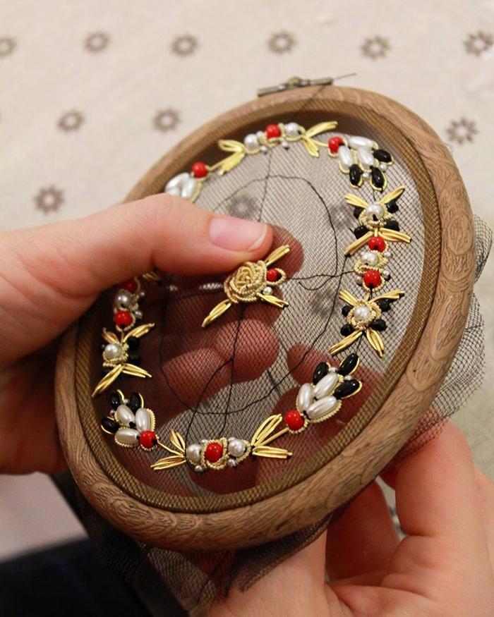 krista decor beads embroidery