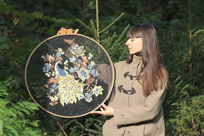 krista decor tulle embroidery