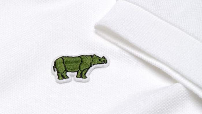 lacoste javan rhino logo