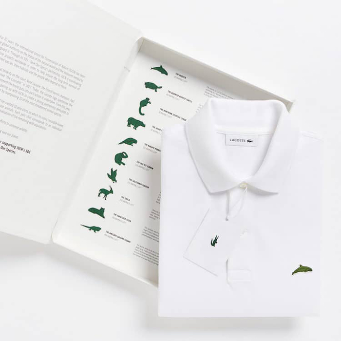 lacoste replaces crocodile logo with 10 endangered species