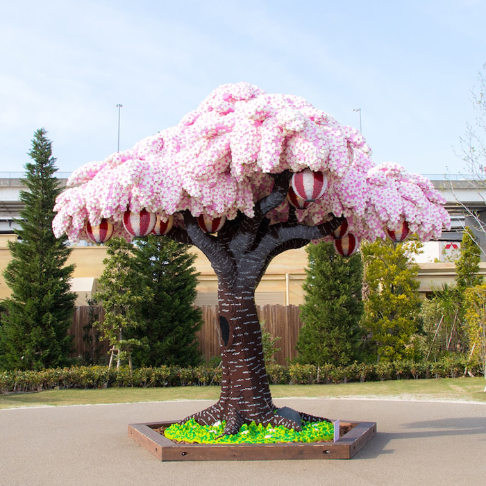 lego brick cherry blossom tree