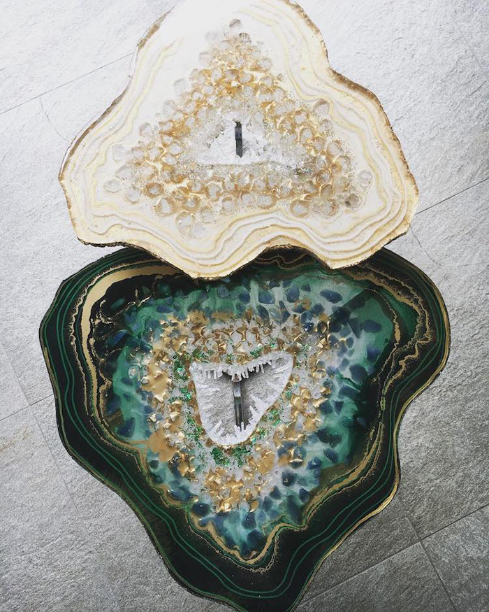 mrs colorberry geode resin art