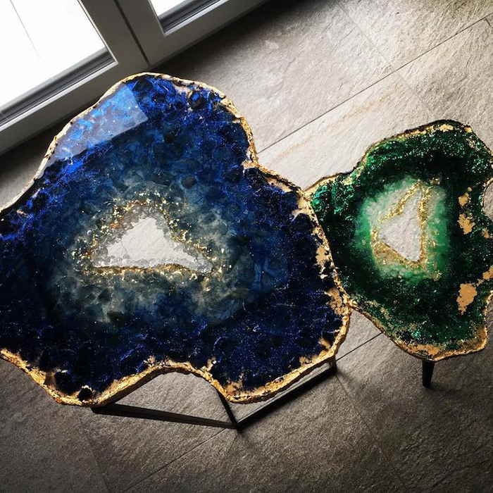 mrs colorberry realistic geode table