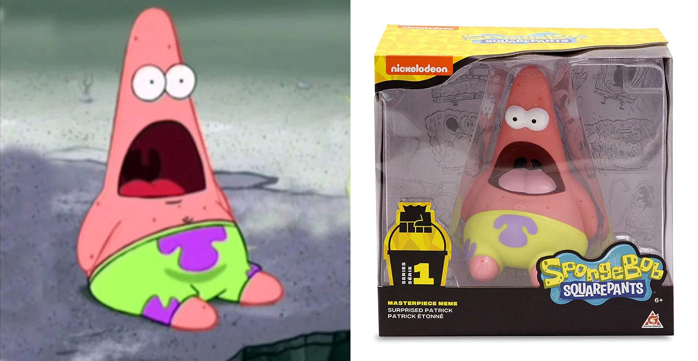 To celebrate 20 years of spongebob nickelodeon has created these meme inspired toys