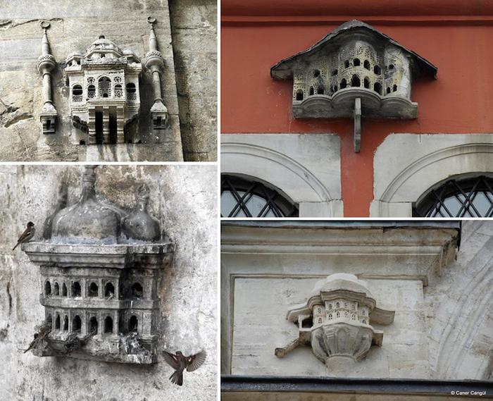 ottoman-style birdhouses