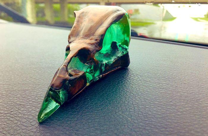 resin bird skull