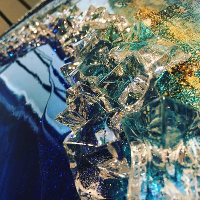 resin geode art crystals