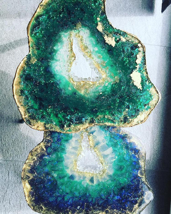 resin geode art table mrs colorberry