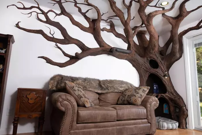rob rogalski indoor fake tree for cats