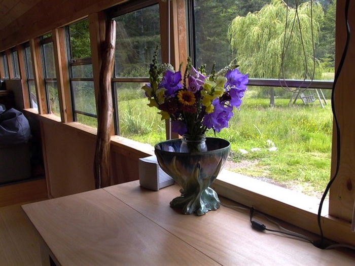 school bus conversion flower vase