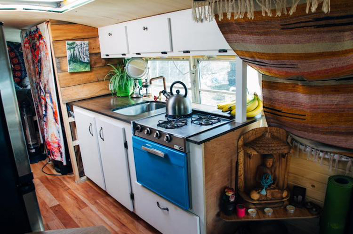 school bus conversion kitchen layout