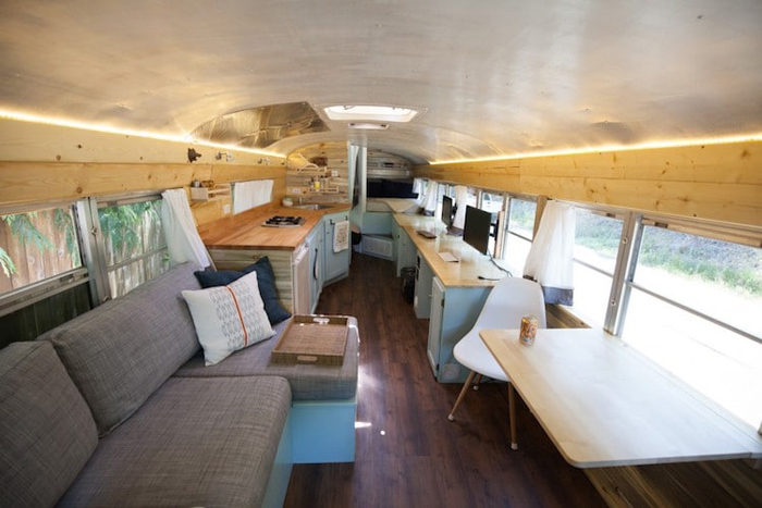 school bus conversion mobile tiny home