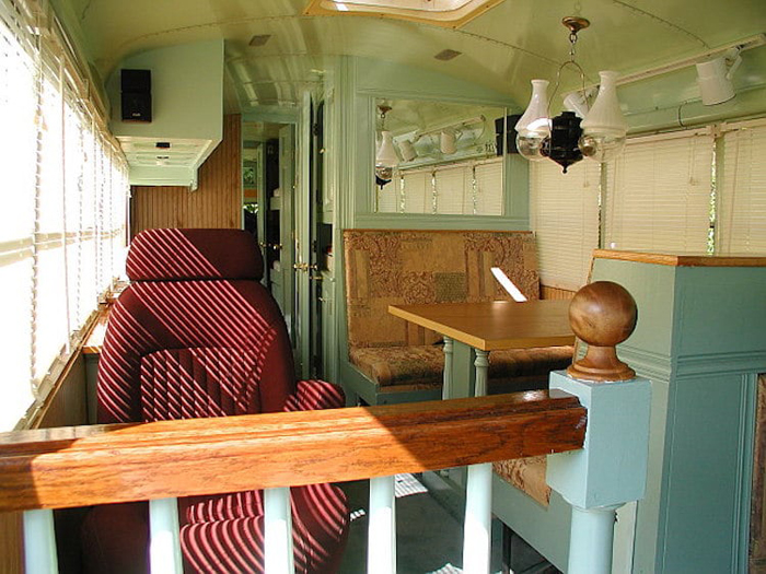 school bus conversion stylish interior