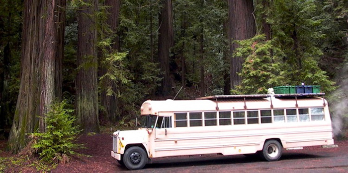 school bus converted to mobile home