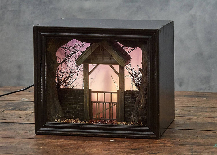 shadow box dioramas churchyard
