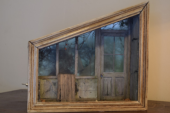 shadow box dioramas creepy greenhouse