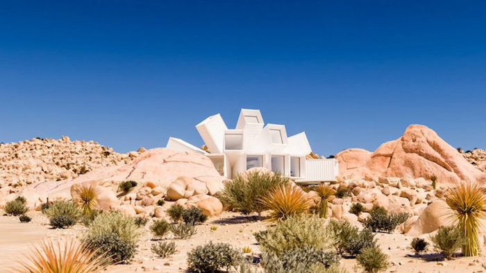 shipping container home joshua tree residence