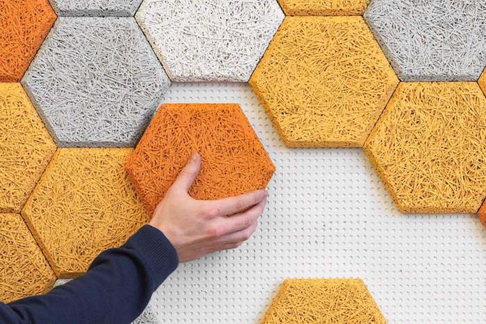 sound-absorbing wall tiles baux