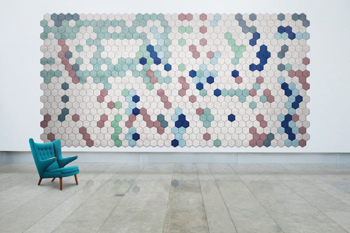sound-absorbing wall tiles colors