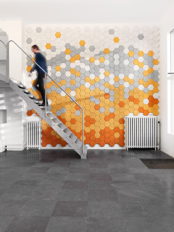 sound-absorbing wall tiles