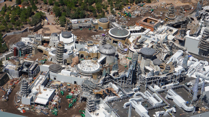 star wars land aerial shot