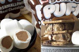 stuffed puffs chocolate marshmallows