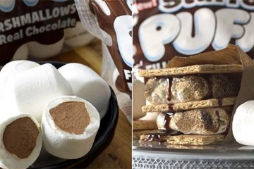 stuffed puffs chocolate marshmallows