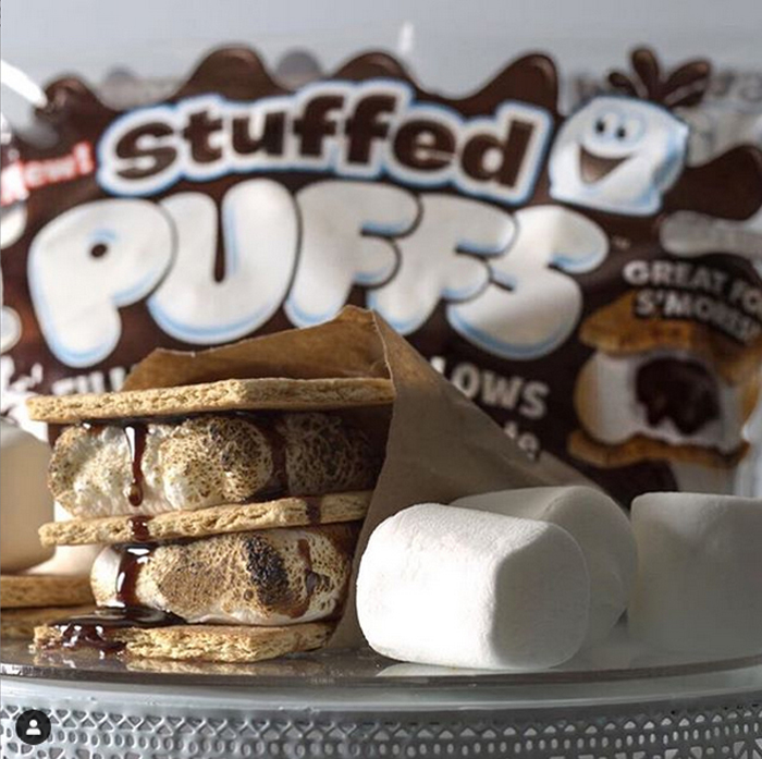 stuffed puffs smores