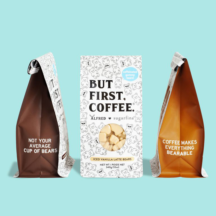 sugarfina alfred gummy bears resealable coffee bags