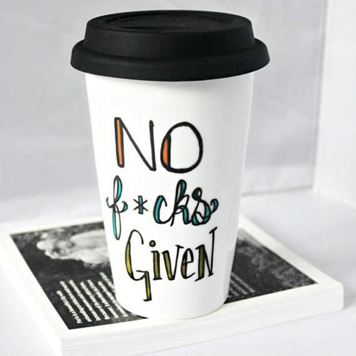 travel mug no fucks given