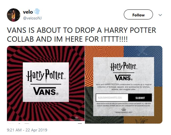 vans hogwarts-themed shoes comment velo