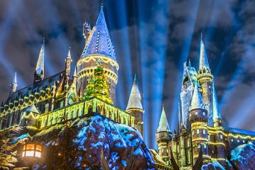 winter theme hogwarts christmas