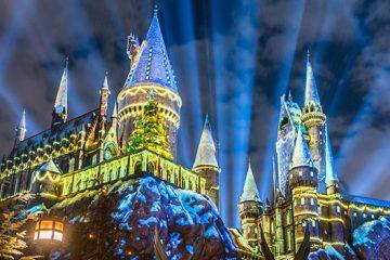 winter theme hogwarts christmas