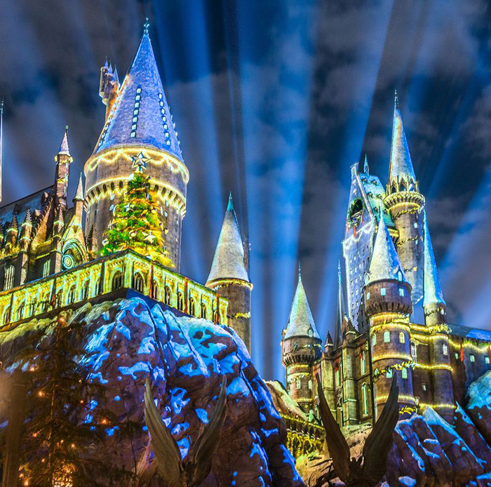 winter-themed wizarding world of harry potter