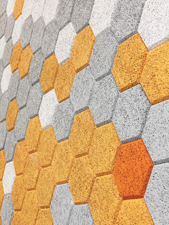 wood wool modular tiles