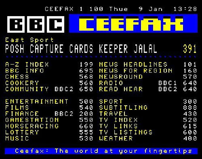 90's kids struggles bbc ceefax