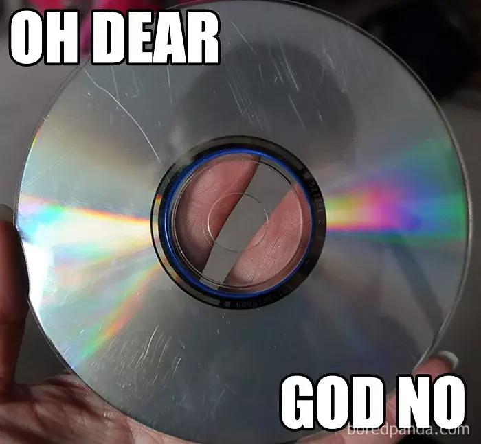 90s kids struggles cd surface scratch