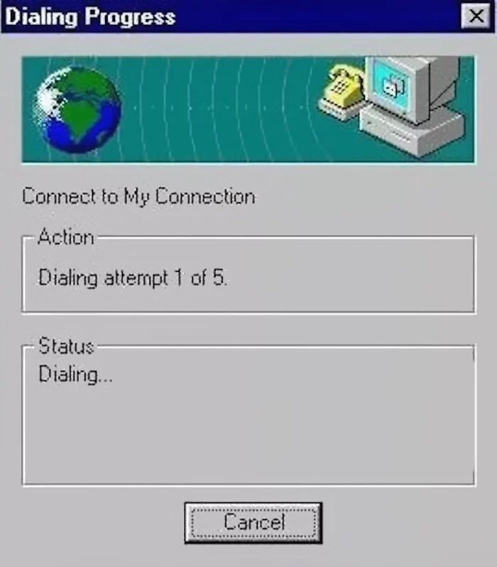 90s kids struggles dial-up connection
